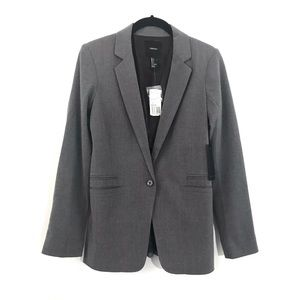🆕 Forever 21 Grey Career Jacket Blazer NWT Small